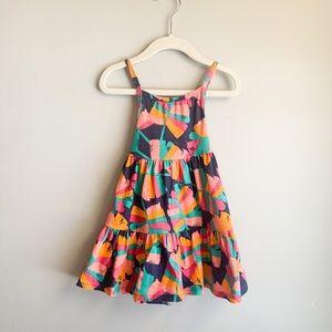 Cat & Jack Multi color Palm Print Dress